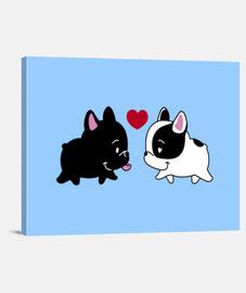 amore- bulldog francesi  innamorati