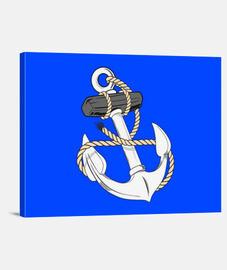 anclaje de la marina con la cuerda