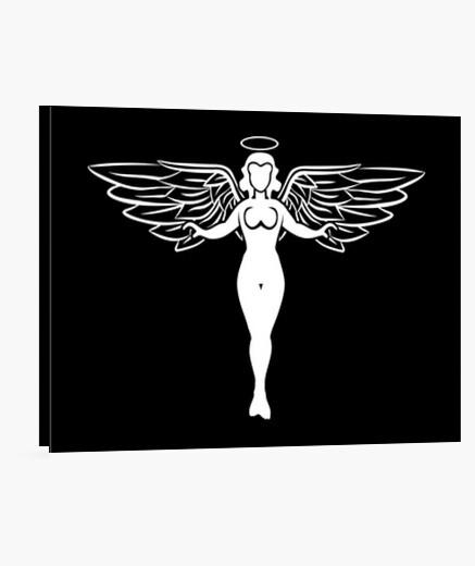 Lienzo ángel blanco