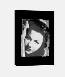 ANNE BAXTER // Impression sur toile / Noire