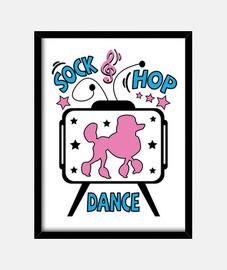 années 1950, boîte, chaussette, hop, danse, fête, rock and roll musique, années 1960, USA