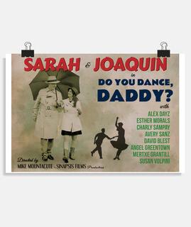 antico poster di danza, papà