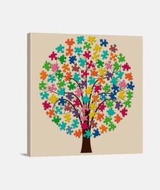 Arbol puzzle de color