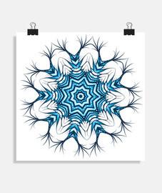 art mandala de flocon de neige en bleu