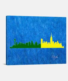 Art. Vers. FEDEX Seattle-NY Skyline