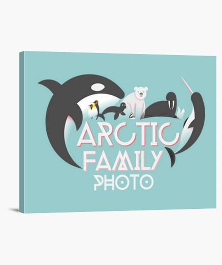 Stampa su tela artico family foto