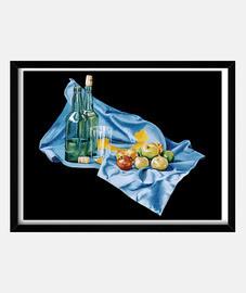 asturias bodegón - photo encadrée avec cristaux