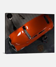 Automóvil rojo