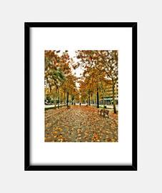 autunno - cornice con cornice verticale nera 3: 4 (15 x 20 cm)