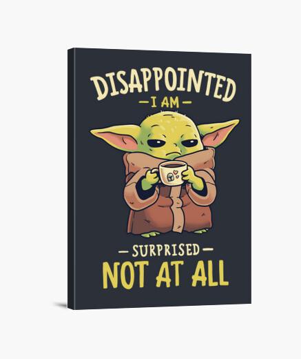 Lienzo Baby Yoda Mandalorian Café Meme