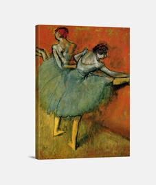 Bailarinas en barra (1888)