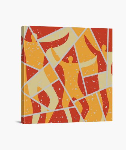 Lienzo bailarines abstractos decoración para e