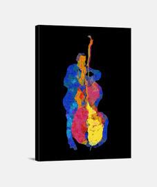 bajista de jazz moderno multicolor
