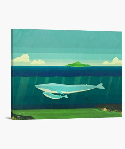 Tableau baleine bleue