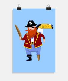 bambino tatoo di toucan pirata