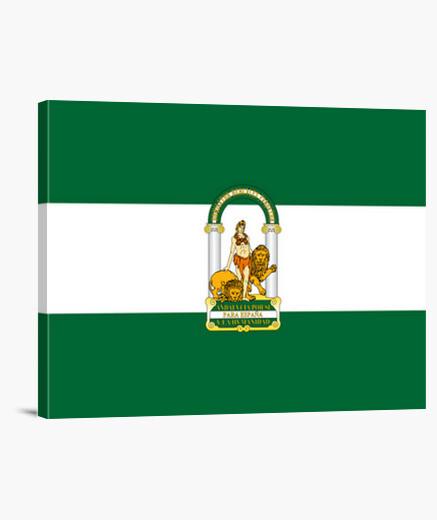 Lienzo Bandera de Andalucía