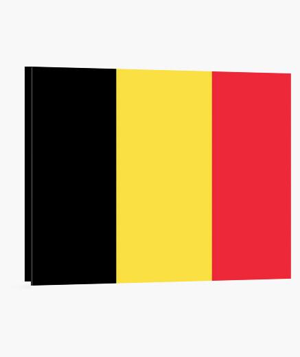Lienzo Bandera de Bélgica