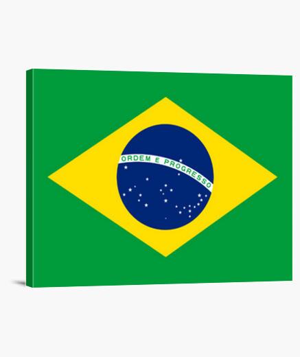 Lienzo Bandera de Brasil