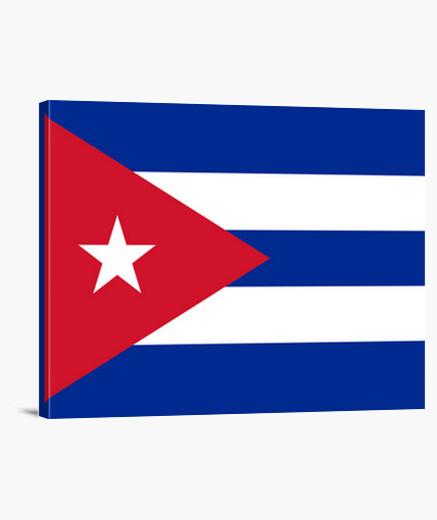 Lienzo Bandera de Cuba