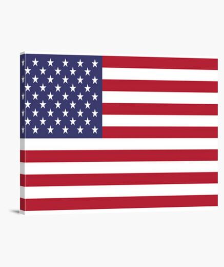 Lienzo Bandera de Estados Unidos
