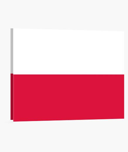 Lienzo Bandera de Polonia