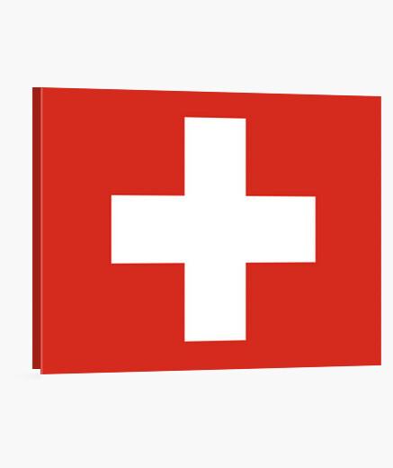 Lienzo Bandera de Suiza