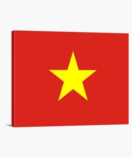 Lienzo Bandera de Vietnam