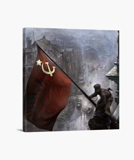 Lienzo Bandera Roja Berlín