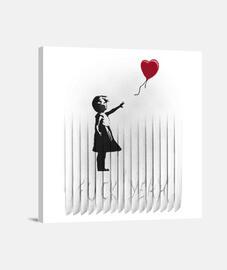 Banksy-ed lienzo
