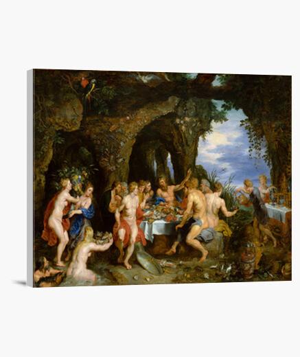 Lienzo Banquete de Achelous ( Peter Paul Rubens