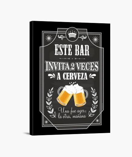 Bar - beer - invitation :) canvas