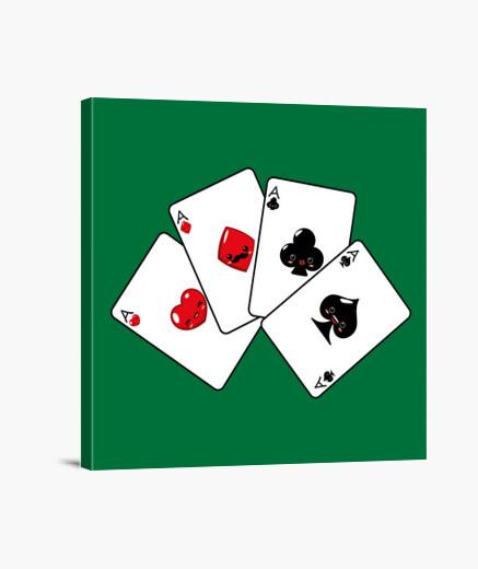 Lienzo Baraja de Poker