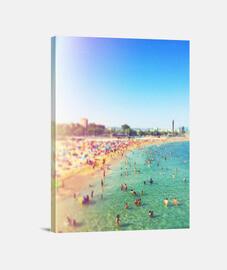Barcelona Beach - Lienzo Vertical 3:4 - (30 x 40 cm)