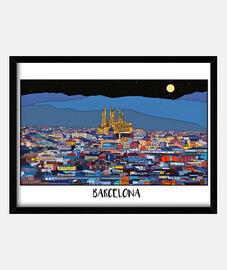 Barcelona Cuadro con marco horizontal 4:3 (40 x 30 cm)