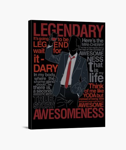 Lienzo Barney Stinson - Legendary T-Shirt of Aw