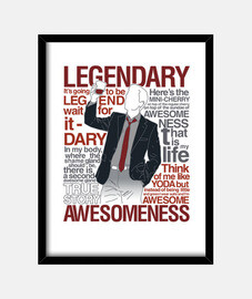 Barney Stinson - Legendary T-Shirt of Aw