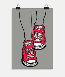baskets rouges
