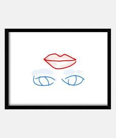 Belleza con Maquillaje Cuadro con marco horizontal (4:3) marco negro