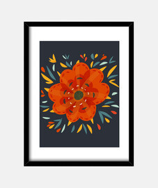 bello decorativo orange fiore