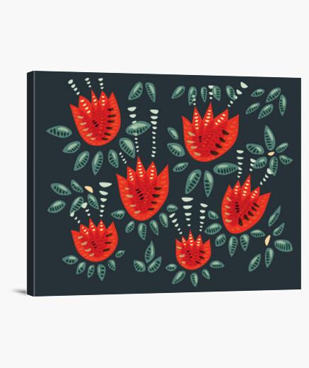 Lienzo bellos tulipanes rojos abstractos