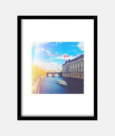 Berlin - Cuadro con marco negro vertical 3:4 (15 x 20 cm)