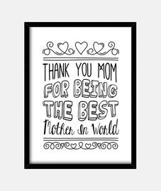 best mère dans le noir du monde