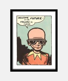 bienvenido en el futuro // marco vertical
