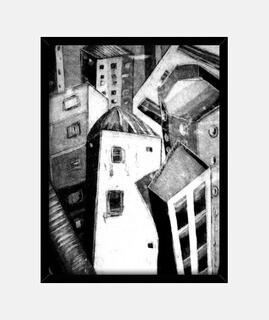 bild mit marco vertikal 3: 4 (30 x 40 cm) / stadt