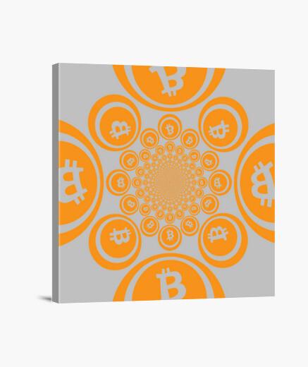 Lienzo Bitcoin Calidoscopio