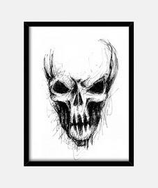 black alien skull