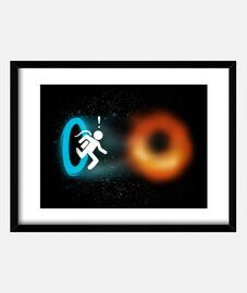 black portal print