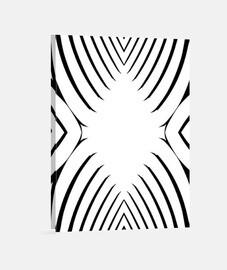 Blanco y Negro, diseño abstracto y moderno Lienzo Vertical 3:4 - (30 x 40 cm) Blanco y Negro, estilo