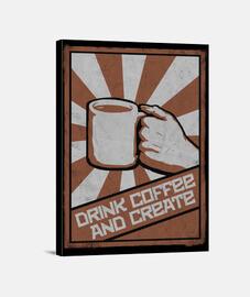 boire du café et créer