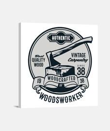 bois de bûcheron rétro forêt vintage bûcherons